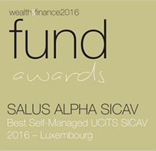 Wealth & Finance 2016 - Fund Awards - Salus Alpha Sicav - Best Self-Managed UCITS SICAV 2016 - Luxembourg