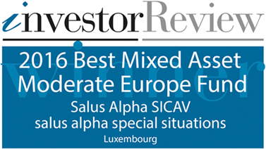 Investor Review - 2016 Best Mixed Asset Moderate Europe Fund - Salus Alpha SICAV - Salus Alpha Special Situations - Luxembourg
