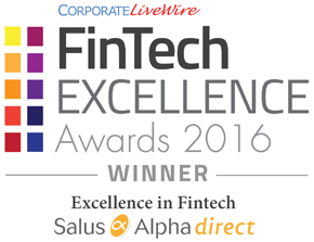FinTech EXCELLENCE Awards 2016 WINNER Excellence in Fintech Salus Alpha direct