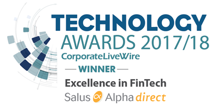 Technology Awards 2017/18 - CorporateLiveWire Winner - Excellence in FinTech - Salus Alpha Direct